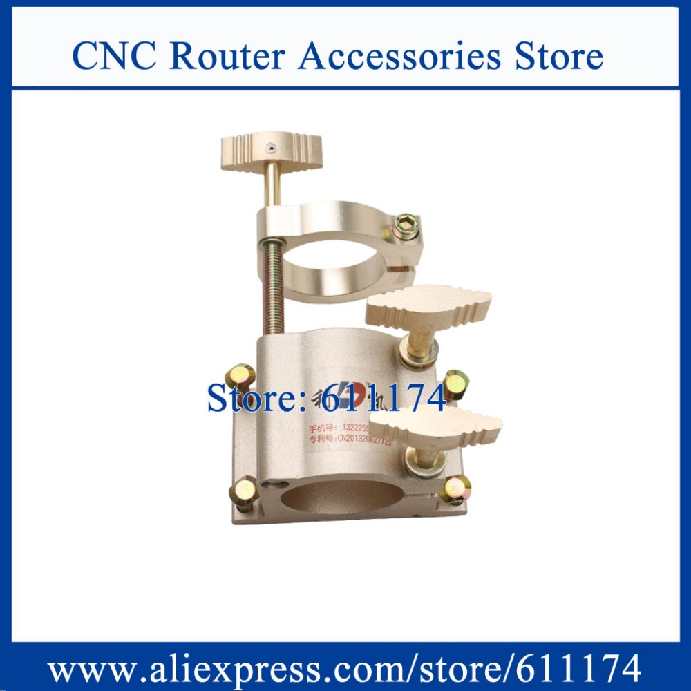 Adjustable Clamp 100mm/105mm Cast Aluminum Spindle Bracket D100/D105 Spindle Mounting 4 Screw Double Plate Support