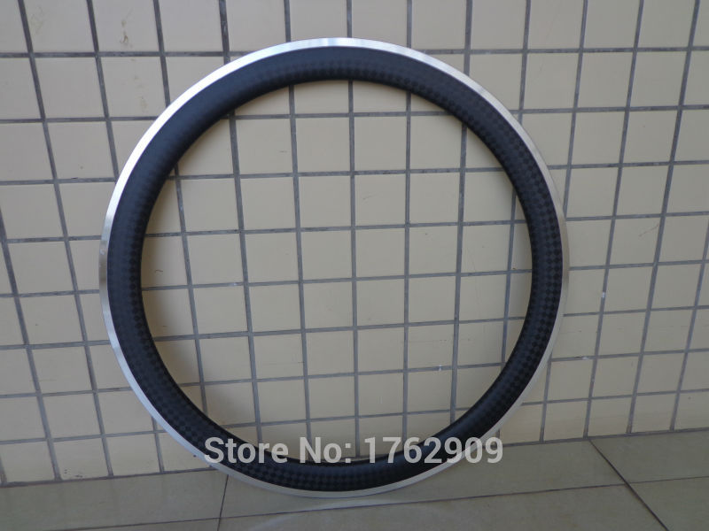 1Pcs New 700C 50mm clincher rims Road bicycle matte 12K carbon fibre with alloy brake surface bike wheelsets rim Free shipping 1sheet matte surface 3k 100% carbon fiber plate sheet 2mm thickness