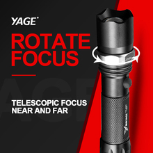 Brand YAGE 336C Powerful CREE XP-E LED Flashlight Aluminum Waterproof Zoomable Self defense Torch Light For 1x18650 Battery