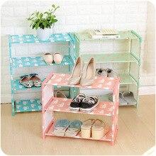 Multi-layer Cartoon Shoe Racks Portable Non-woven Large Size Fabric Dustproof Cabinet Organizer DIY Foldable Stand Shoes Shelves