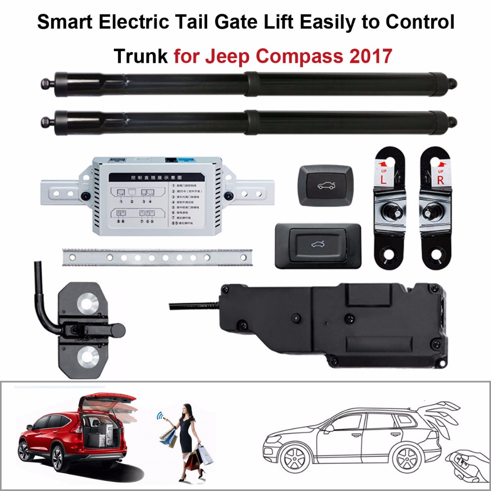 Auto  Electric Tail Gate Lift For Jeep Compass 2017  Control By Remote