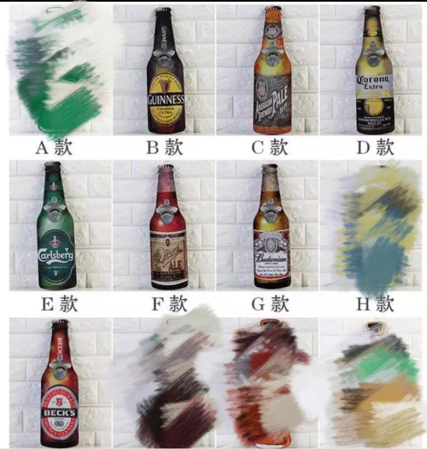 7pcs/lot Wood Signs shabby chic Vintage Wall Mounted Hanging Bottle Opener over 10 Designs Perfect Gift-in Decorative Boards from Home & Garden    1