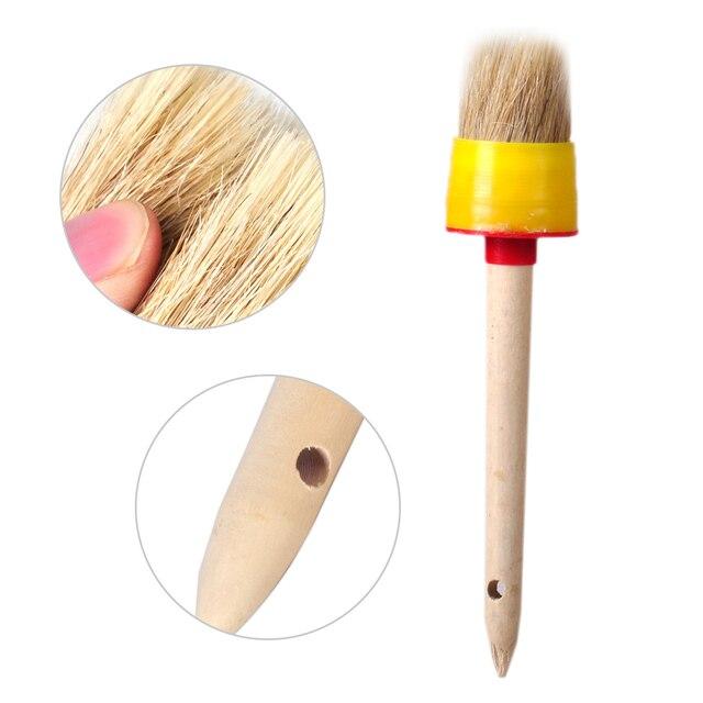 LETAOSK 50mm mango de madera redondo aceite cera acuarela pintura cerdas tiza pincel artista