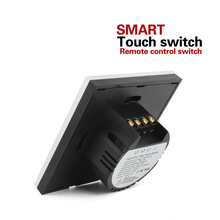 EU Standard Switch Wall Touch Switch Luxury White Crystal Glass, 1 Gang 1 Way Switch, AC110V~240V with Indicator