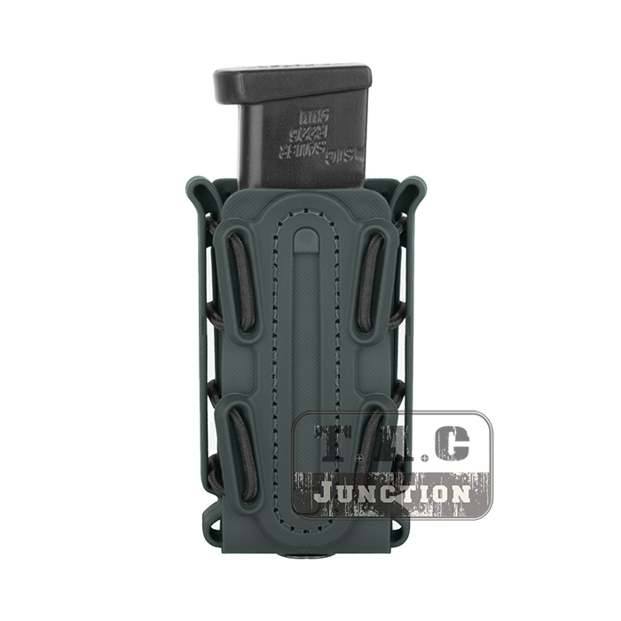 Tactical Single Stack & Double Stack 9mm Soft Shell Pistol .45 Caliber Foliage Green Scorpion <font><b>Magazine</b></font> Pouch Tall w/ Belt Loop