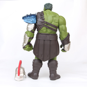 Image 4 - 18/35cm Big Size Avengers Marvel Thor 3 Ragnarok Hands Moveable War Hammer Battle Axe Gladiator Hulk BJD Action Figure Model Toy