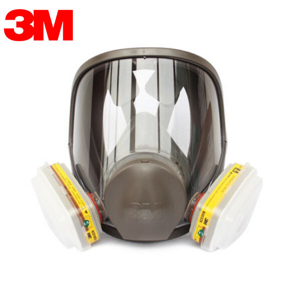 3M 6700+6003 Full Face  Mask Reusable Respirator Filter Mask Anti-Organic Vapor Acid Gas 7 Items for 1 Set LT095 3m 6300 6001 respirator half face mask painted against organic vapor gas cartridges 7 items for 1 set lt013
