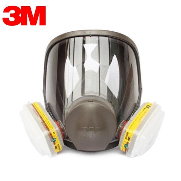 3M 6700+6003 Full Face  Mask Reusable Respirator Filter Mask Anti-Organic Vapor Acid Gas 7 Items for 1 Set LT095 3m 6300 6009 reusable half face mask respirator mercury organic vapor chlorine acid gas cartridge 7 items for 1 set k01010