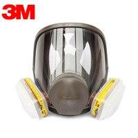 3M 6700+6003 Full Face Mask Reusable Respirator Filter Mask Anti Organic Vapor Acid Gas 7 Items for 1 Set LT095