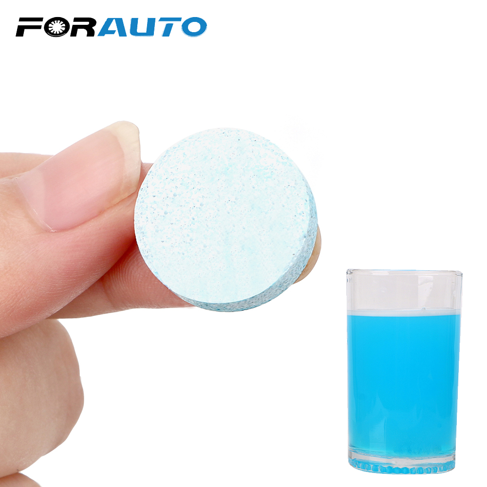 FORAUTO Auto Window Cleaning Solid Wipers Fluid Glass Cleaner Cleanser Pill Windshield Glass Cleaner Car Accessories