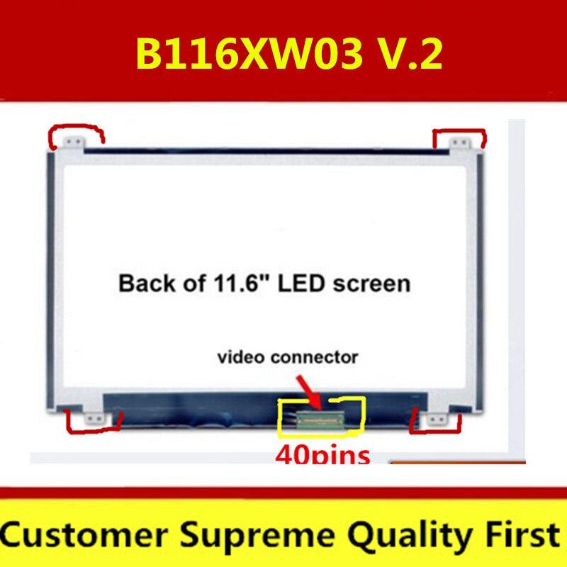 100% Original B116XW03 V.2 N116BGE-L41 N116BGE-L42 11.6