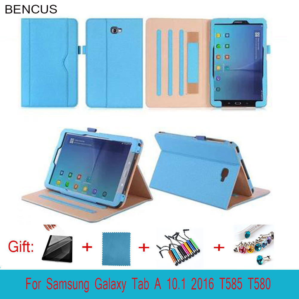 BENCUS Fashion wood grain PU Leather Tablet Cover Case with Wake & Sleep Feature For Samsung Galaxy Tab A 10.1 T580 T585