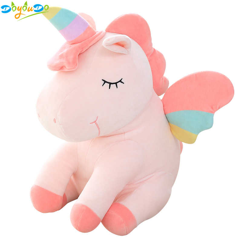 25cm bonito arco-íris unicórnio brinquedos de pelúcia adorável unicórnio animal de pelúcia brinquedo de cavalo boneca crianças brinquedos do bebê brinquedos de pelúcia presentes de aniversário