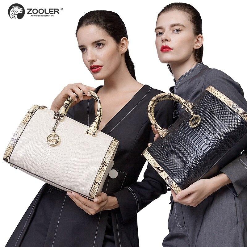 2019 CALIENTE bolsos de cuero genuino de las mujeres ZOOLER famosa - Bolsos - foto 1