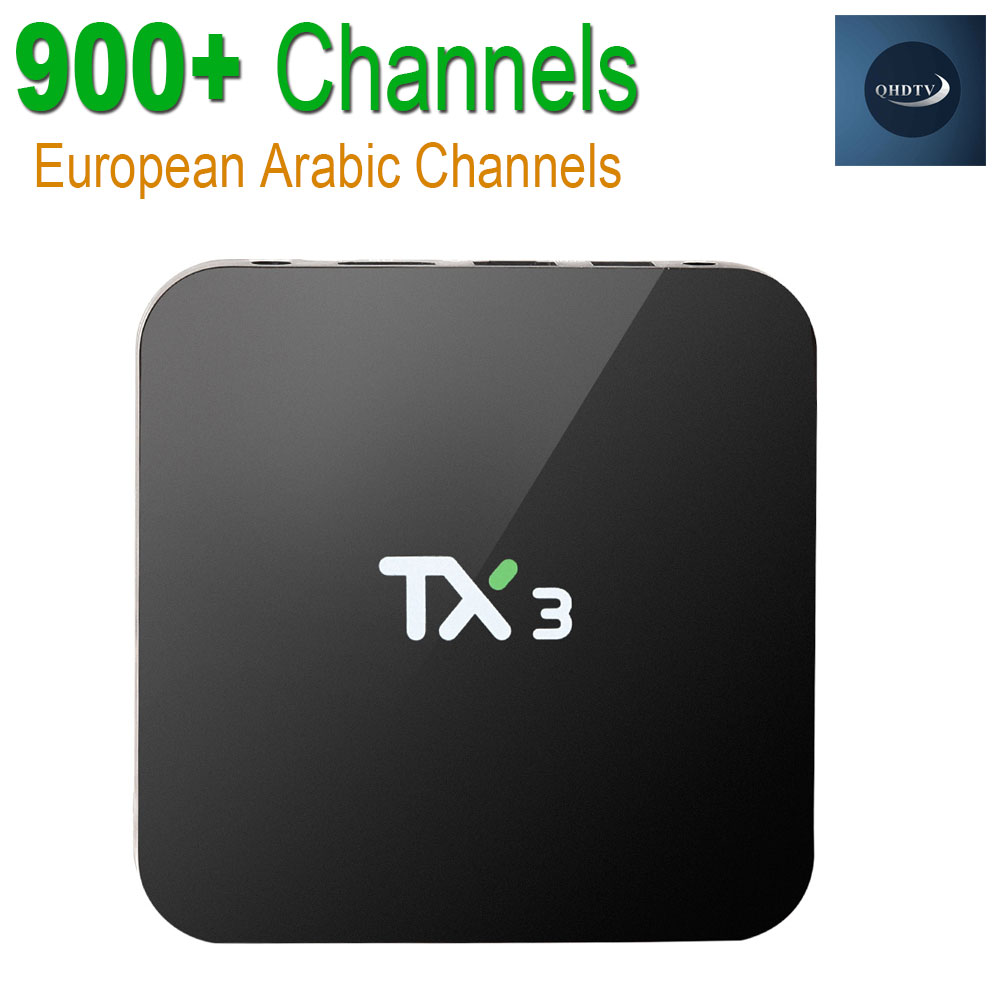 ФОТО Arabic Europe IPTV Box S905 TX3 Android 5.1 Quad core Set top box 1G/8G Android TV Box HDMI H.265 WIFI Media Player Smart tv box
