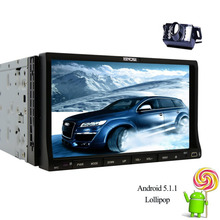 "Android 5.1 Quad Core Coches Reproductor de DVD gps navi Doble 2Din 7 ""GPS Del Coche gps cd Radio Estéreo Multimedia WiFi Backup Camera + bluetooth"