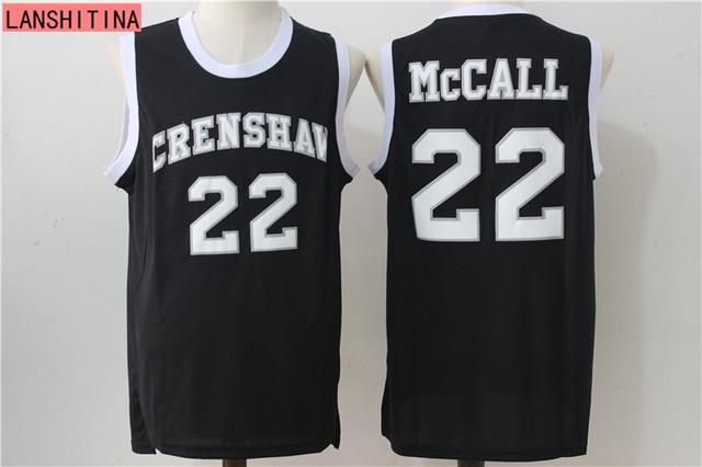 d5ca5df4ede ... lanshitina basketball jerseys crenshaw high school 22 quincy mccall  jersey white blue yellow black movie