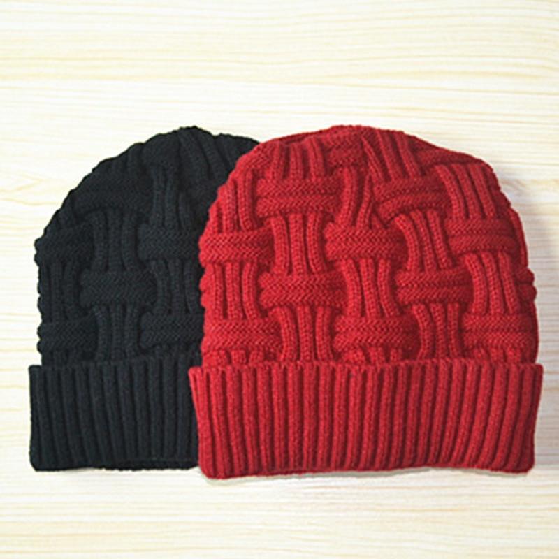 1Pcs Unisex Knitting Hat   Beanies   Winter Hat for Men Women Casquette Knitted   Beanies   Cap   Skullies     Beanies   Male Knit Caps Bonnet