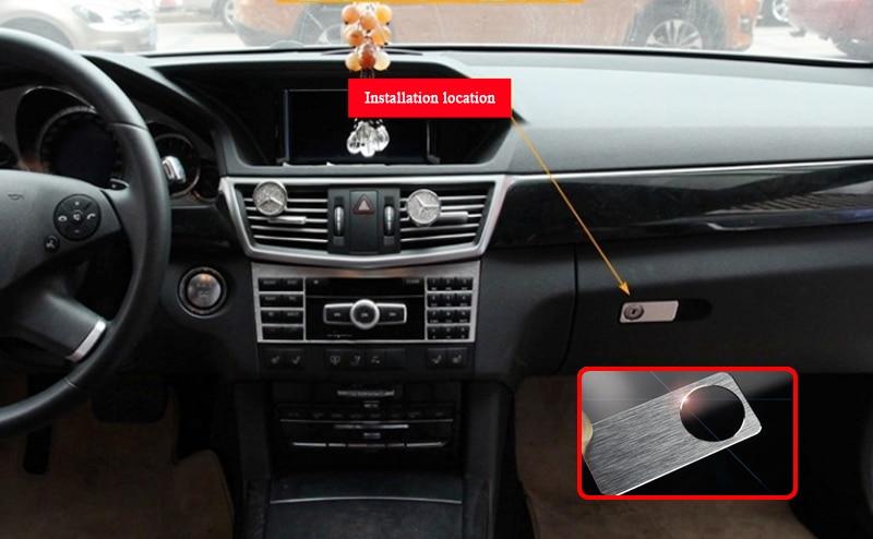 Brushed Aluminium Glove Storage Box Lock Cover Trim for Mercedes BENZ C E GLK//S