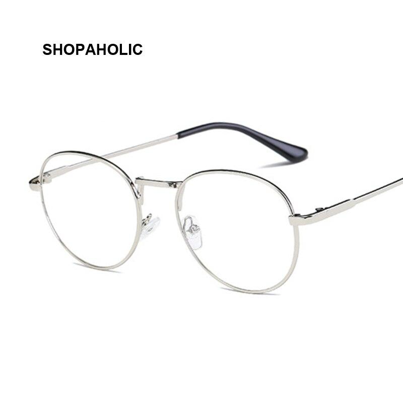 Female Eyewear Sun-Glasses-Frame Reading Retro Transparent Fashion Luxury Spectacle Round