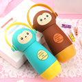 High quality 304 Stainless Steel Vacuum cup Children Lovely Cartoon Animal Monkey 260ML Thermos