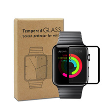 Full Cover Screen Protector for Apple Watch 38 42 Tempered Glass 9H 2 5D Silk Print