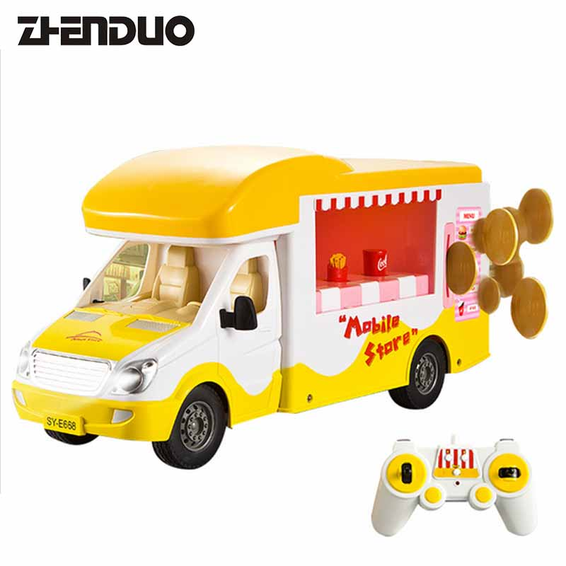 ZhenDuo Toys E668-001 RC Remote Control Car Self-Service Sales & Fast Food And Molible Car Electric Children Toy peter block stewardship choosing service over self interest