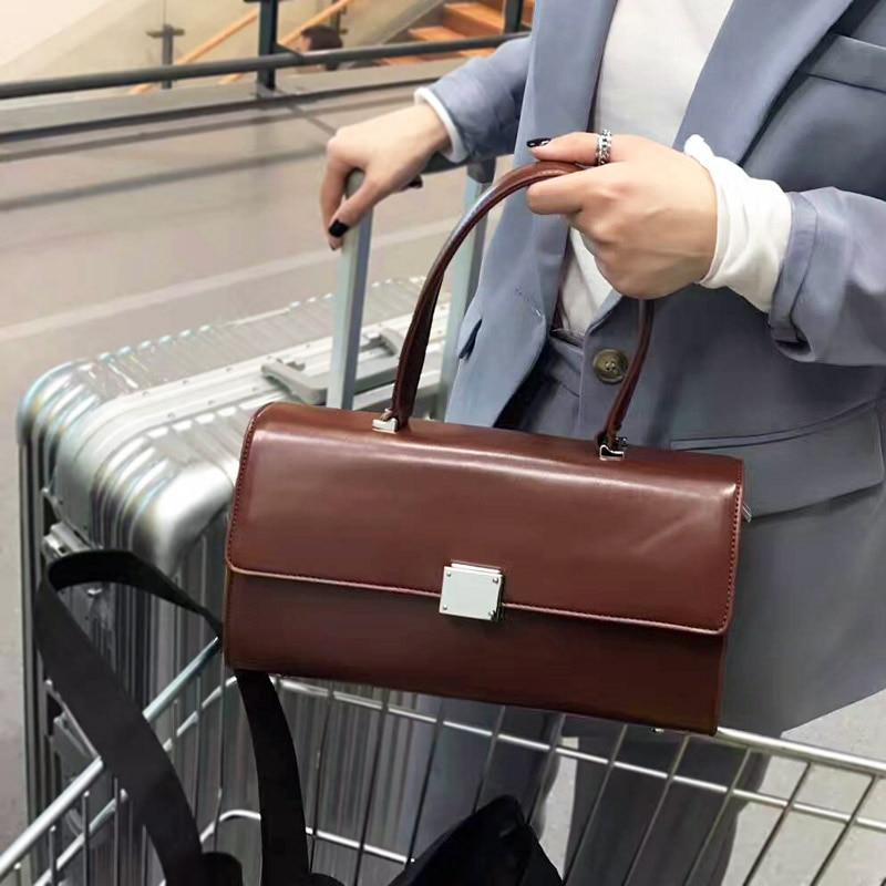 High quality Women Tote handbags Office bag Rectangular Bag Messenger Bag Shoulder Bag Female Korean Wind