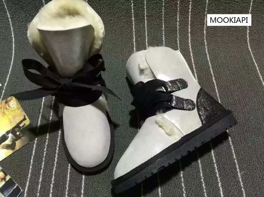 2019 Freies Verschiffen! Klassische Hohe Schnee Stiefel Frauen Warme Stiefel Hohe Qualität Australien Echtem Schaffell Stiefel Frauen Schuhe Der Preis Bleibt Stabil