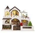 Кукольный Дом Мебель Diy Largeature Пылезащитный Чехол 3D Деревянные Largeature Dollhouse Игрушки для Детей Подарки На День Рождения