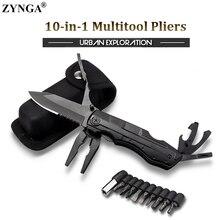 10 en 1 multiherramienta alicates cuchillo plegable Alicates para llavero portátil cuchillo de supervivencia para acampar al aire libre senderismo de herramientas de mano