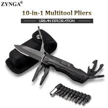 10 in 1 Multitool צבת, מתקפל סכין Keychain פלייר נייד הישרדות סכין חיצוני קמפינג טיולי חירום יד כלים