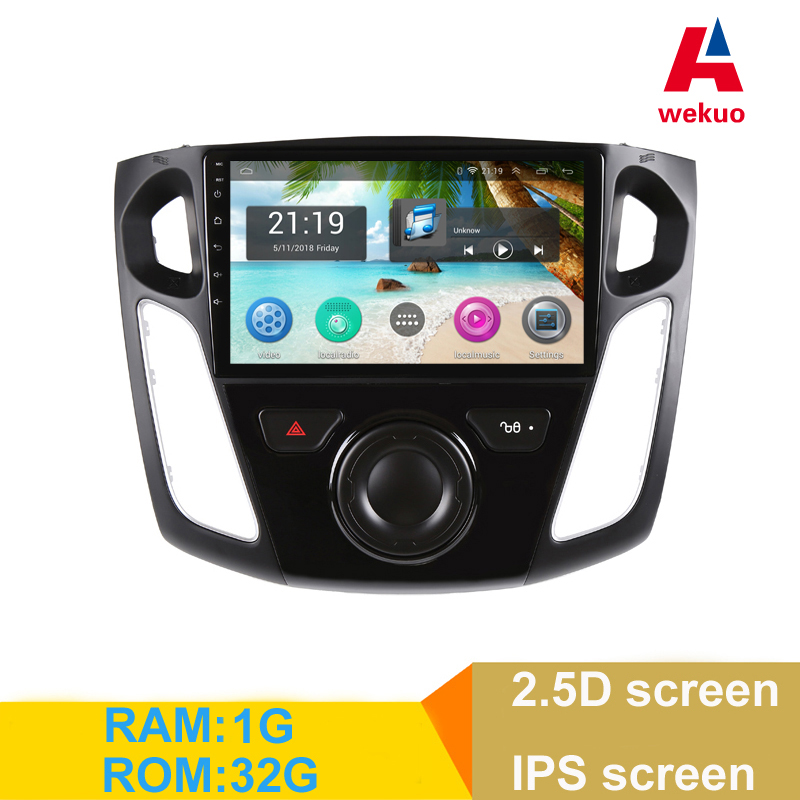 9 2.5D IPS screen Android 6.0 Car DVD Multimedia Player GPS For Ford Focus 3 2012 2013-2015 audio car radio stereo navigator