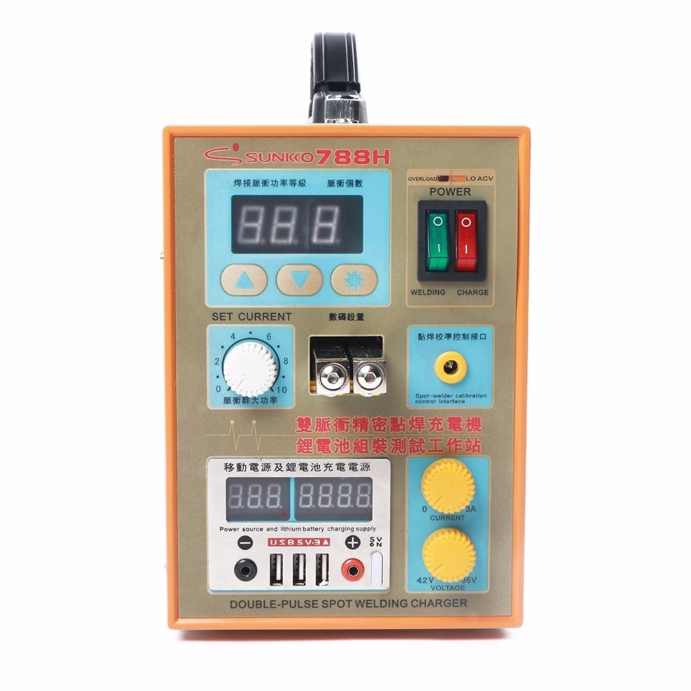 Sunkko 788H-USB soudeuse par points de batterie pour 18650 testeur de chargeur de soudage de batterie au Lithium