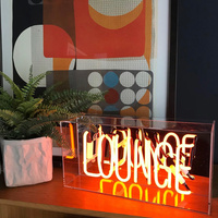 Led Neon Sign Light Christmas Party Wedding Decoration Fashion Colorful Letters Welcome Kiss Hello Neon Bar Cafe Shop Decoration