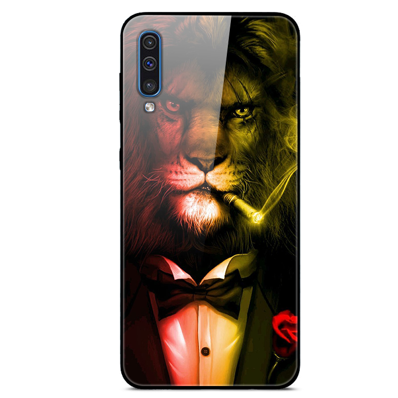 6 4 quot Case For Samsung A50 2019 Case A505F A 50 Luxury Tempered Glass Hard PC Back Cover For Samsung Galaxy A50 Case TPU Frame in Fitted Cases from Cellphones amp Telecommunications