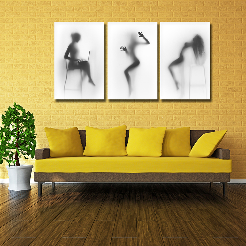 Black And White Wall Art Poster Zwart Wit Sexy Nude Women Canvas ...