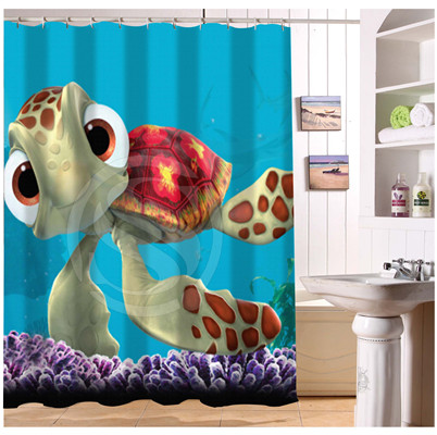 YY612f-158 New Custom Finding Nemo Cartoon Modern Shower Curtain bathroom Waterproof lJ-w$158