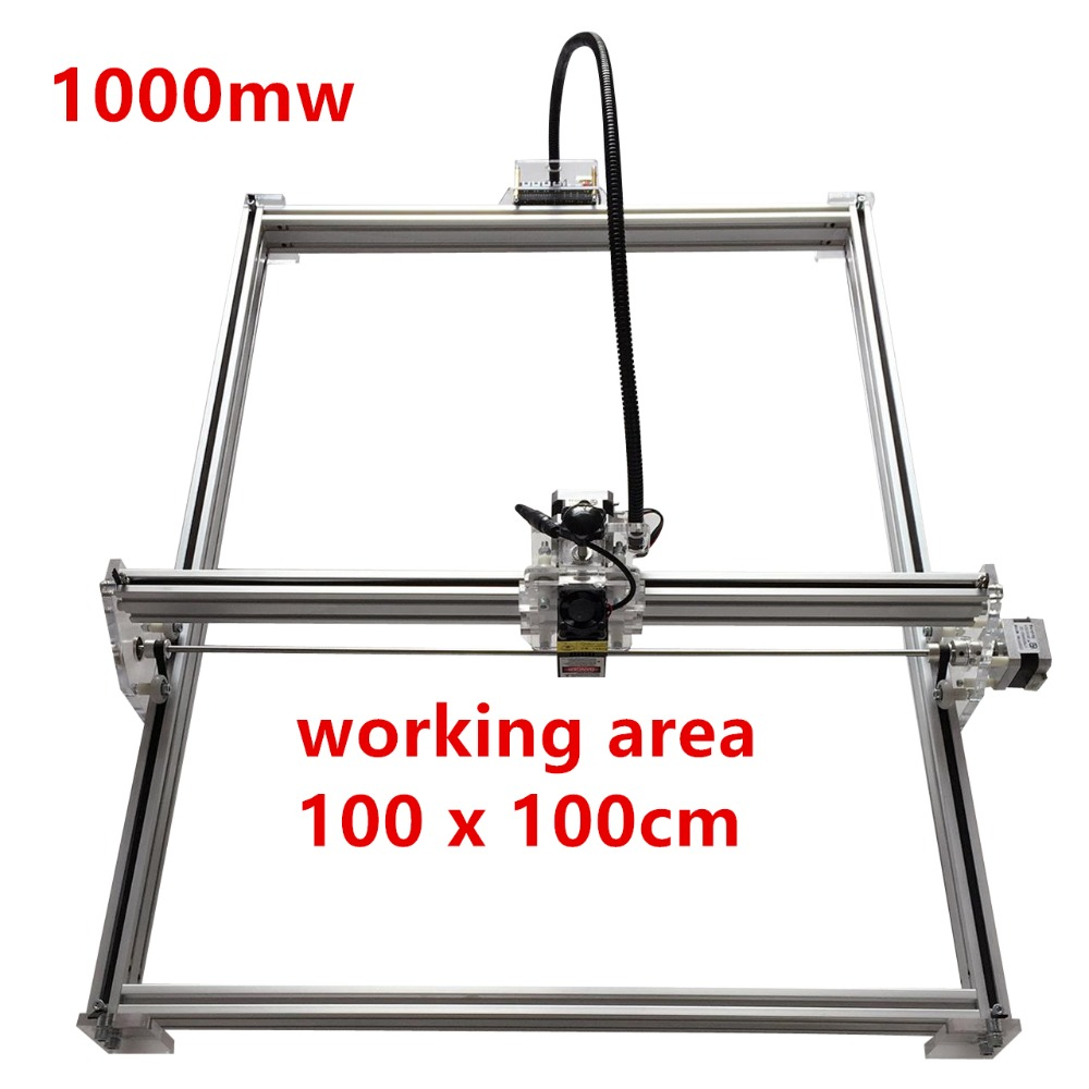 1000mw Mini desktop DIY Laser engraving engraver cutting machine Laser Etcher CNC print image of 100*100cm big working area