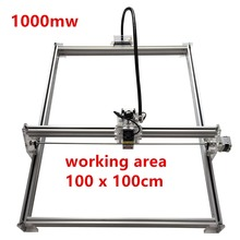 1000mw Mini desktop DIY Laser engraving engraver cutting machine Laser Etcher CNC print image of 100*100cm big working area  цена и фото