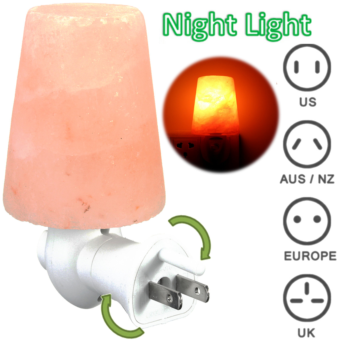 Mini Himalayan Salt Crystal Wall Night Light Warm Lamp Fixtures Bedside Deep Sleep Bedroom Wedding Home Decoration Gift