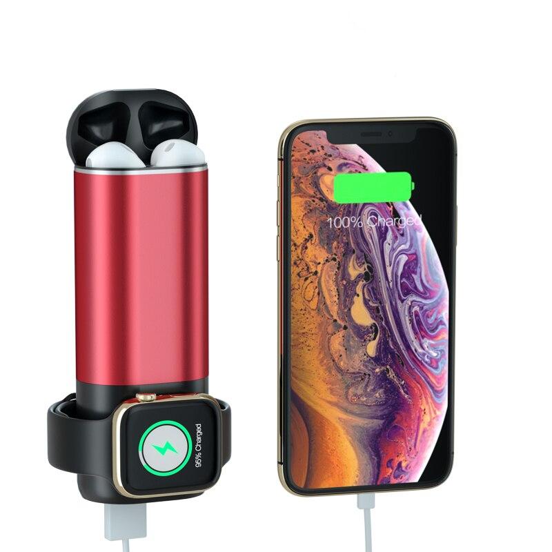 Nova 3 em 1 Qi Carregador Sem Fio Para Apple Série Relógio 4 3 2 1 Banco Do Poder Do Carregador Do Telefone Móvel para O Iphone X 8 Xiaomi Carregador