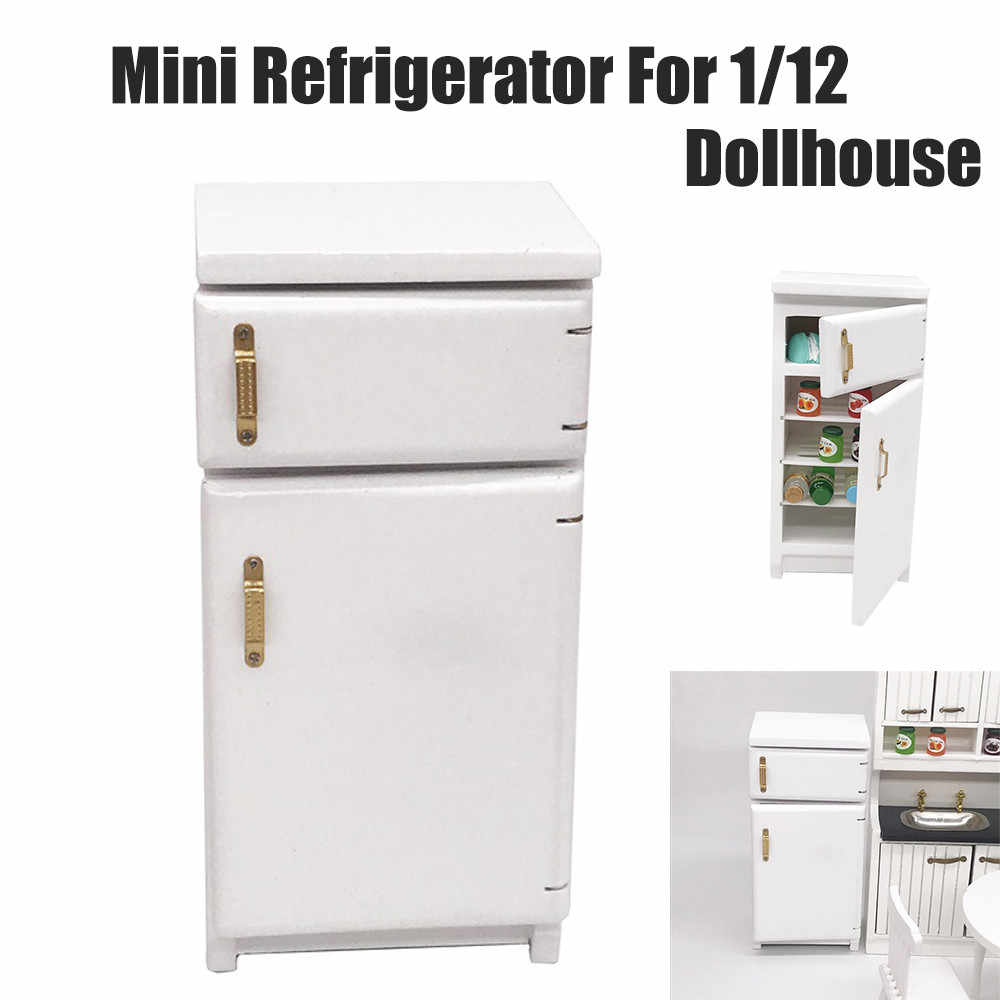 Mini Dollhouse Furniture Refrigerator Miniature Living Room Pretend Play Toy Doll House Accessories Toys for Children Gift
