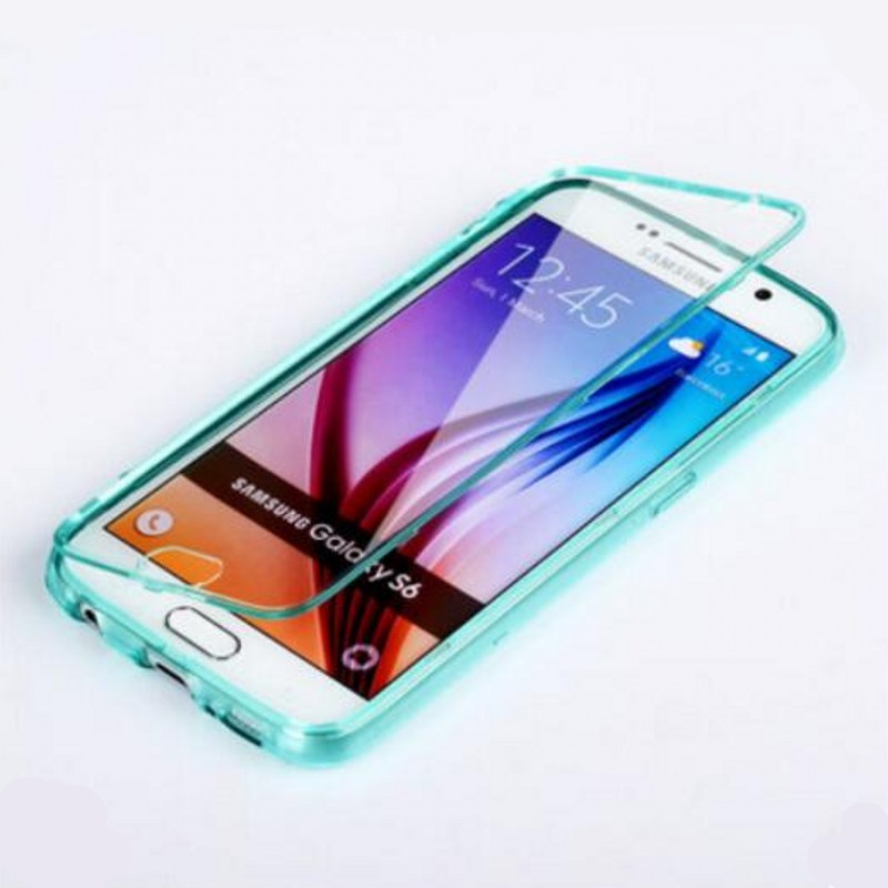 360 Full Protection Silicone Clamshell Anti-Knock Case For Samsung S6 G9200