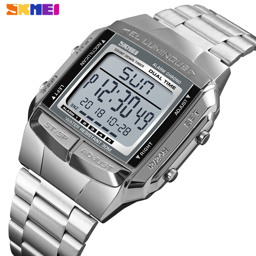 <font><b>SKMEI</b></font> Men Military Sports Watches LED Digital Watch Mens Watches Top Brand Luxury Waterproof Electronic Clock Relogio Masculino image