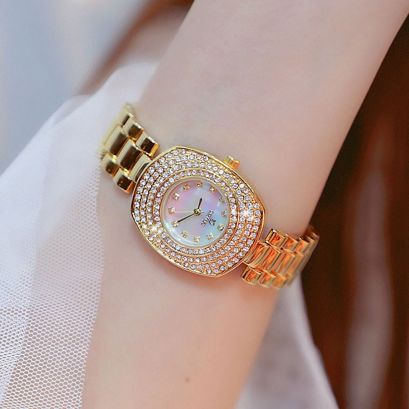 30*36mm Diamond Dial Women Watches Gold Filled Watches Ladies Business Dress Watch Fashion Casual Girl Watch Bayan Kol Saati