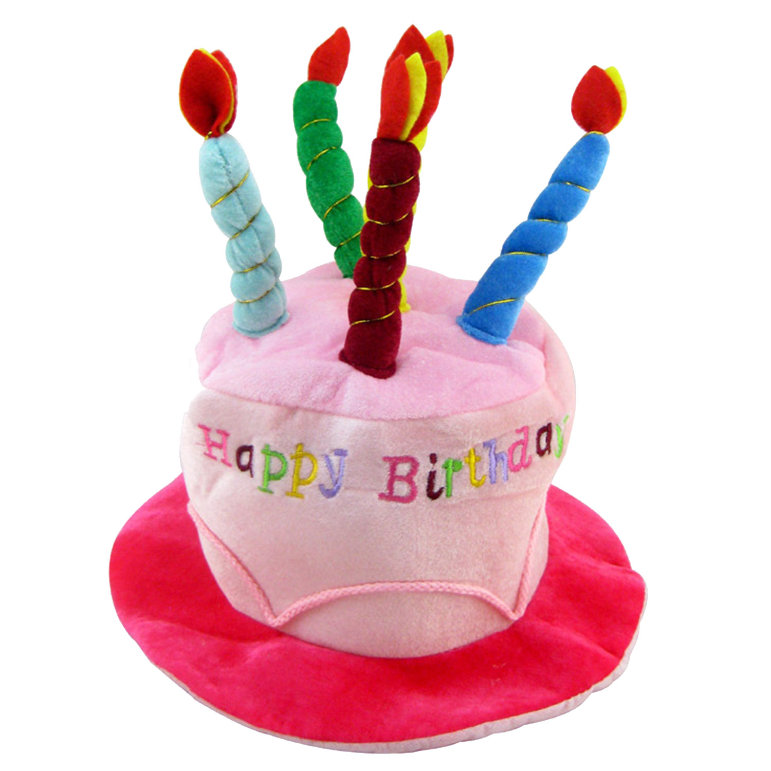 Adults Happy Birthday Hat With Cake Candles Soft Birthday Party Hat