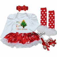 Baby Rompers 2017 Newborn First Chrismtas Gift Baby Costume Girls Birthday Jumpsuit Clothing Romper Dress Festival