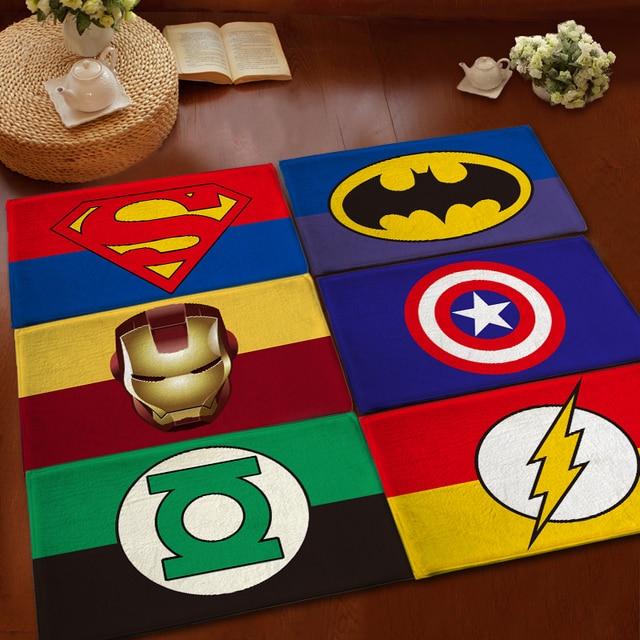 Kids Children Superhero Cartoon Carpets Modern Rugs And