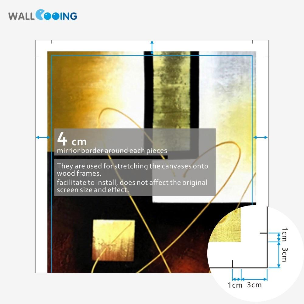 3 dalių rankomis dažytos drobės aliejiniai paveikslai - Namų dekoras - Nuotrauka 4